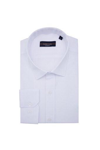 Sabri Özel Uzun Kollu Slim Fit Gömlek Erkek Uzun Kollu Gömlek 5431634 BEYAZ