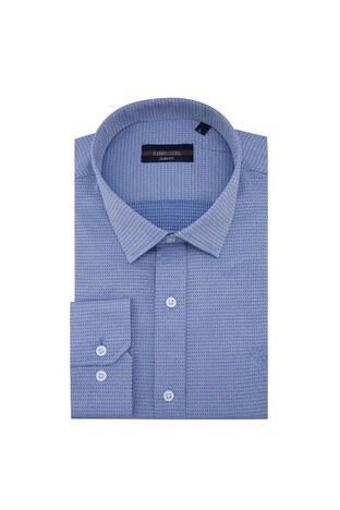 Sabri Özel - Sabri Özel Uzun Kollu Slim Fit Gömlek Erkek Uzun Kollu Gömlek 5431634 MAVİ