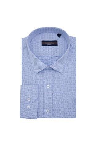 Sabri Özel - Sabri Özel Uzun Kollu Slim Fit Gömlek Erkek Uzun Kollu Gömlek 5431635 LACİVERT
