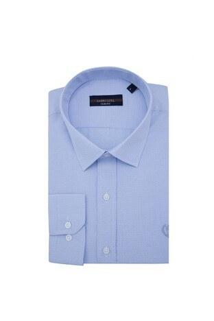 Sabri Özel - Sabri Özel Uzun Kollu Slim Fit Gömlek Erkek Uzun Kollu Gömlek 5431635 MAVİ