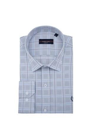 Sabri Özel - Sabri Özel Uzun Kollu Slim Fit Gömlek Erkek Uzun Kollu Gömlek 5431636 GRİ