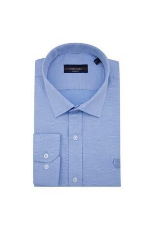 Sabri Özel - Sabri Özel Uzun Kollu Slim Fit Gömlek Erkek Uzun Kollu Gömlek 5431637 AÇIK MAVİ