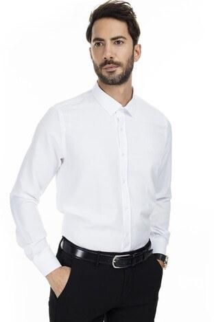 Sabri Özel Uzun Kollu Slim Fit Gömlek Erkek Uzun Kollu Gömlek 5431637 BEYAZ