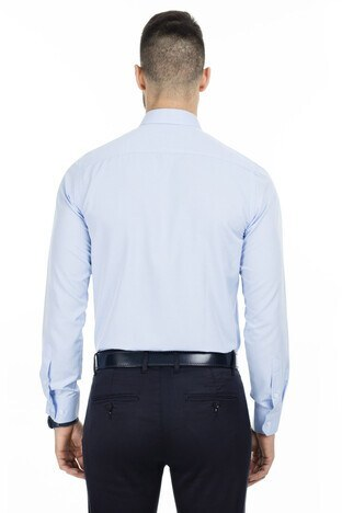 Sabri Özel Slim Fit Erkek Uzun Kollu Gömlek 5431639 AÇIK MAVİ