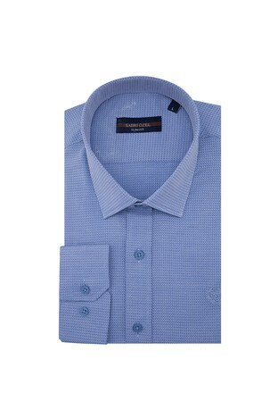 Sabri Özel - Sabri Özel Uzun Kollu Slim Fit Gömlek Erkek Uzun Kollu Gömlek 5431639 MAVİ