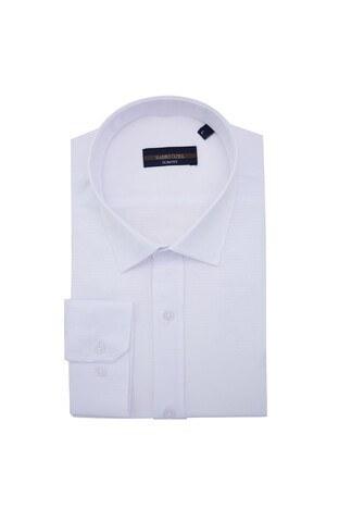 Sabri Özel - Sabri Özel Uzun Kollu Slim Fit Gömlek Erkek Uzun Kollu Gömlek 5431641 BEYAZ