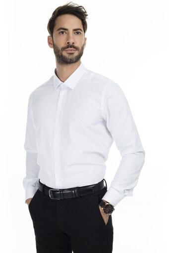 Sabri Özel Uzun Kollu Slim Fit Gömlek Erkek Uzun Kollu Gömlek 5431642 BEYAZ