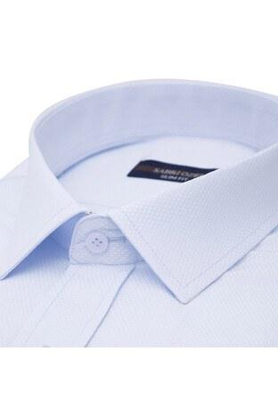 Sabri Özel Uzun Kollu Slim Fit Gömlek Erkek Uzun Kollu Gömlek 5431642 MAVİ