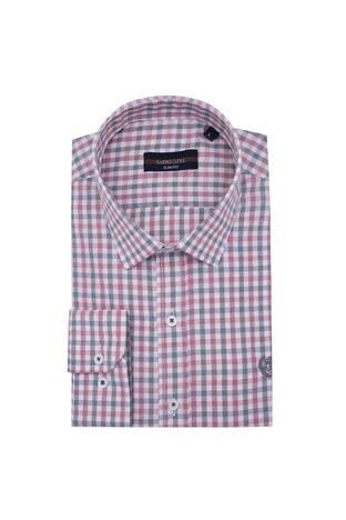 Sabri Özel - Sabri Özel Uzun Kollu Slim Fit Gömlek Erkek Uzun Kollu Gömlek 5431643 KIRMIZI