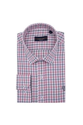 Sabri Özel Uzun Kollu Slim Fit Gömlek Erkek Uzun Kollu Gömlek 5431643 KIRMIZI