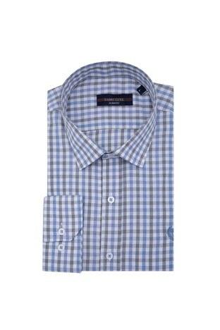 Sabri Özel - Sabri Özel Uzun Kollu Slim Fit Gömlek Erkek Uzun Kollu Gömlek 5431643 MAVİ