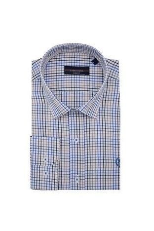 Sabri Özel - Sabri Özel Uzun Kollu Slim Fit Gömlek Erkek Uzun Kollu Gömlek 5431644 KAHVE