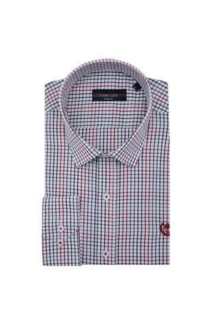 Sabri Özel - Sabri Özel Uzun Kollu Slim Fit Gömlek Erkek Uzun Kollu Gömlek 5431644 KIRMIZI