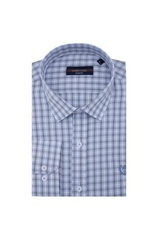 Sabri Özel - Sabri Özel Uzun Kollu Slim Fit Gömlek Erkek Uzun Kollu Gömlek 5431646 AÇIK MAVİ