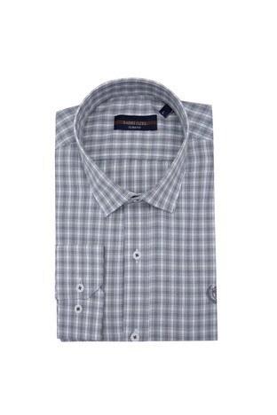 Sabri Özel - Sabri Özel Uzun Kollu Slim Fit Gömlek Erkek Uzun Kollu Gömlek 5431646 GRİ