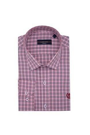 Sabri Özel - Sabri Özel Uzun Kollu Slim Fit Gömlek Erkek Uzun Kollu Gömlek 5431646 KIRMIZI