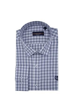 Sabri Özel - Sabri Özel Uzun Kollu Slim Fit Gömlek Erkek Uzun Kollu Gömlek 5431646 LACİVERT