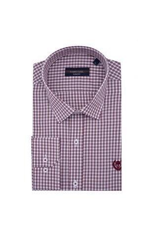 Sabri Özel - Sabri Özel Uzun Kollu Slim Fit Gömlek Erkek Uzun Kollu Gömlek 5431647 BORDO
