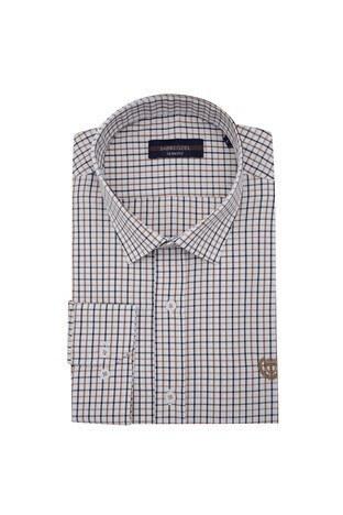 Sabri Özel - Sabri Özel Uzun Kollu Slim Fit Gömlek Erkek Uzun Kollu Gömlek 5431648 KAHVE