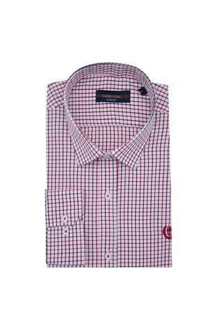 Sabri Özel - Sabri Özel Uzun Kollu Slim Fit Gömlek Erkek Uzun Kollu Gömlek 5431648 KIRMIZI