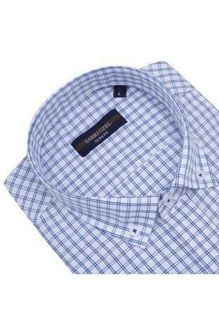 Sabri Özel Uzun Kollu Slim Fit Gömlek Erkek Uzun Kollu Gömlek 5431649 MAVİ