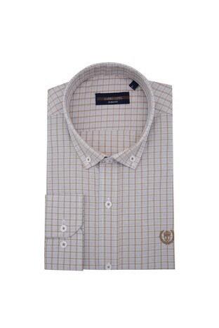 Sabri Özel - Sabri Özel Uzun Kollu Slim Fit Gömlek Erkek Uzun Kollu Gömlek 5431650 BEJ