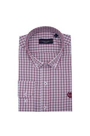 Sabri Özel - Sabri Özel Uzun Kollu Slim Fit Gömlek Erkek Uzun Kollu Gömlek 5431650 BORDO