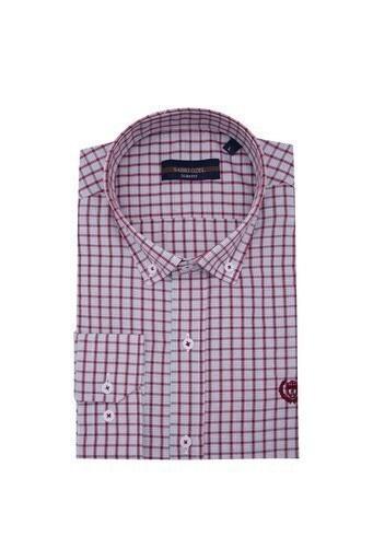 Sabri Özel Uzun Kollu Slim Fit Gömlek Erkek Uzun Kollu Gömlek 5431650 BORDO