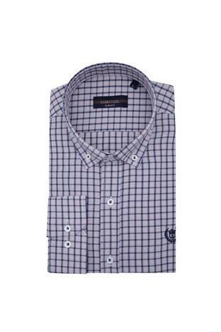 Sabri Özel - Sabri Özel Uzun Kollu Slim Fit Gömlek Erkek Uzun Kollu Gömlek 5431650 LACİVERT