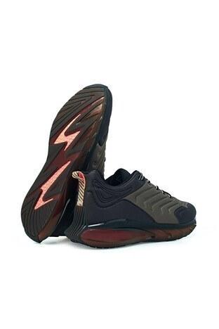 Scootland Memory Foam Sneaker Erkek Ayakkabı 152-13177 SİYAH-HAKİ