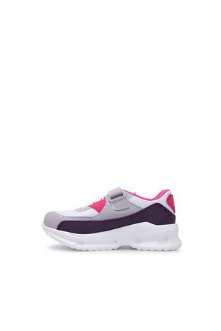 Slazenger Akura Spor Çocuk Ayakkabı SA10LF010 BEYAZ-MOR