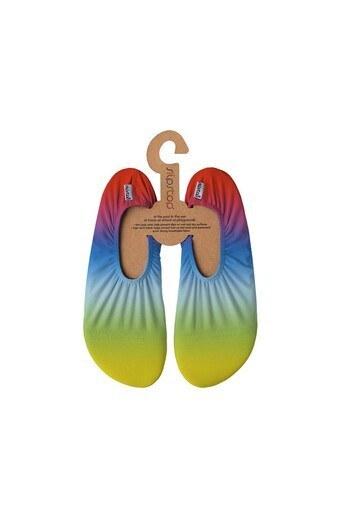 Slipstop Rainbow Kaydırmaz Havuz ve Deniz Ayakkabı Bayan Deniz Ayakkabısı SS21140139 MAVİ-SARI