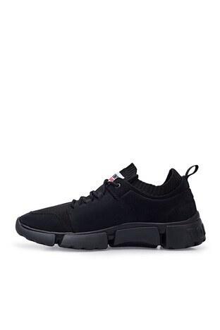 Tommy Hilfiger % 100 Deri Sneaker Erkek Ayakkabı EM0EM00679 BDS SİYAH