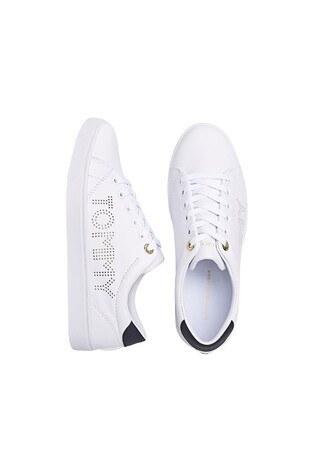 Tommy Hilfiger Deri Sneaker Bayan Ayakkabı FW0FW05544 YBR BEYAZ