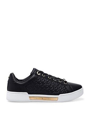 Tommy Hilfiger Deri Sneaker Bayan Ayakkabı FW0FW05549 BDS SİYAH