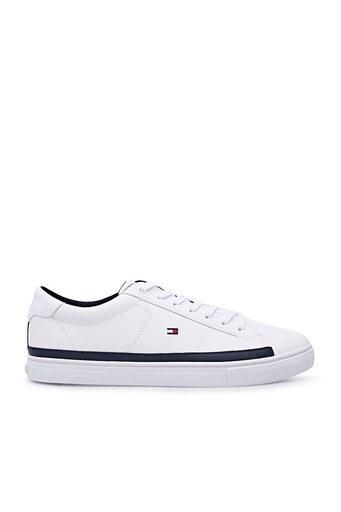 Tommy Hilfiger Deri Sneaker Erkek Ayakkabı FM0FM03394 YBR BEYAZ