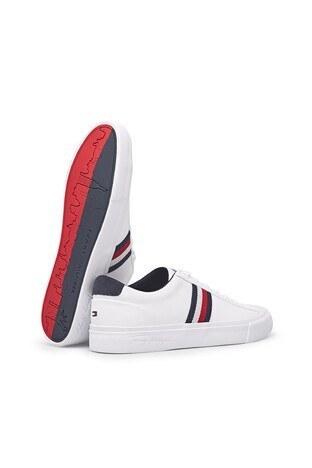 Tommy Hilfiger Deri Sneaker Erkek Ayakkabı FM0FM03397 YBR BEYAZ