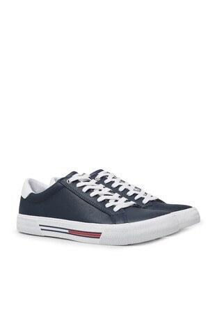 Tommy Hilfiger Deri Spor Erkek Ayakkabı EM0EM00488 C87 LACİVERT