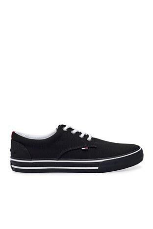 Tommy Hilfiger - Tommy Hilfiger Sneaker Erkek Ayakkabı EM0EM00001 990 SİYAH
