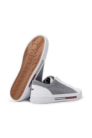 Tommy Hilfiger Sneaker Erkek Ayakkabı EM0EM00199 100 BEYAZ