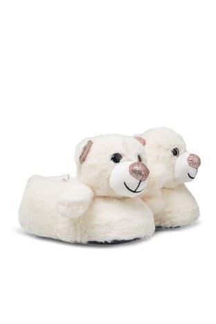 Twigy - Twigy Tw Bear Bayan Panduf TT0753 CF BEYAZ