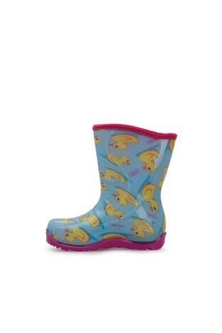 Twigy Tw Ördek Kız Çocuk Yağmur Çizmesi RR0855 CF AÇIK MAVİ