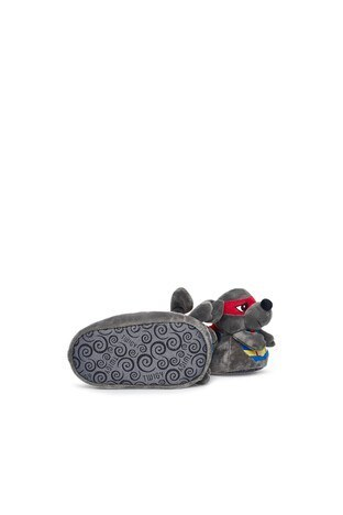 Twigy Tw Süper Fare Sessiz Taban Erkek Çocuk Panduf TT0856 CF GRİ