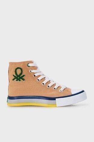 United Colors Of Benetton - United Colors Of Benetton Bilekli Sneaker Bayan Ayakkabı BN-30541 CAMEL