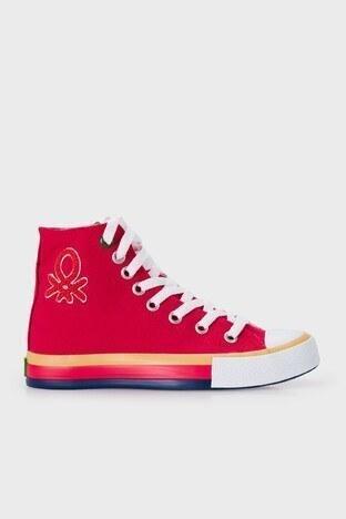 United Colors Of Benetton - United Colors Of Benetton Bilekli Sneaker Bayan Ayakkabı BN-30541 KIRMIZI