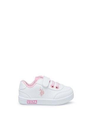 U.S. Polo Assn Sneaker Erkek Çocuk Ayakkabı CAMERON WT 9PR K BEYAZ-PEMBE