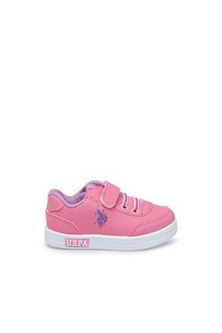 U.S. Polo Assn - U.S. Polo Assn Sneaker Erkek Çocuk Ayakkabı CAMERON WT 9PR K PEMBE
