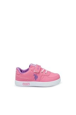 U.S. Polo Assn - U.S. Polo Assn Kız Çocuk Ayakkabı CAMERON PEMBE