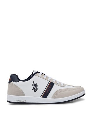 U.S. Polo Assn - U.S. Polo Assn Sneaker Erkek Ayakkabı KARES WT 9PR BEYAZ