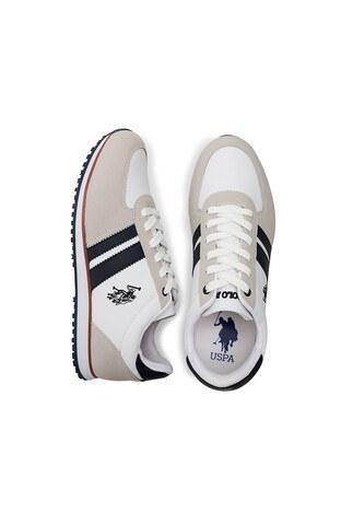 U.S. Polo Assn Sneaker Erkek Ayakkabı PLUS WT 9PR BEYAZ